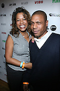 l to r: Danyel Smith and Louren Bates at The Vibe Magazine VIP Celebration for Vibe's December cover featuring the first New York show of Plies, held at The Knitting Factory on November 24, 2008 in NYC