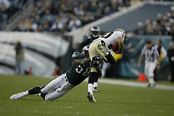 23 November 2003: The Philadelphia Eagles defeated the New Orleans Saints 33-20 at Lincoln Financial Field in Philadelphia, PA. ..Mandatory Credit: Drew Hallowell