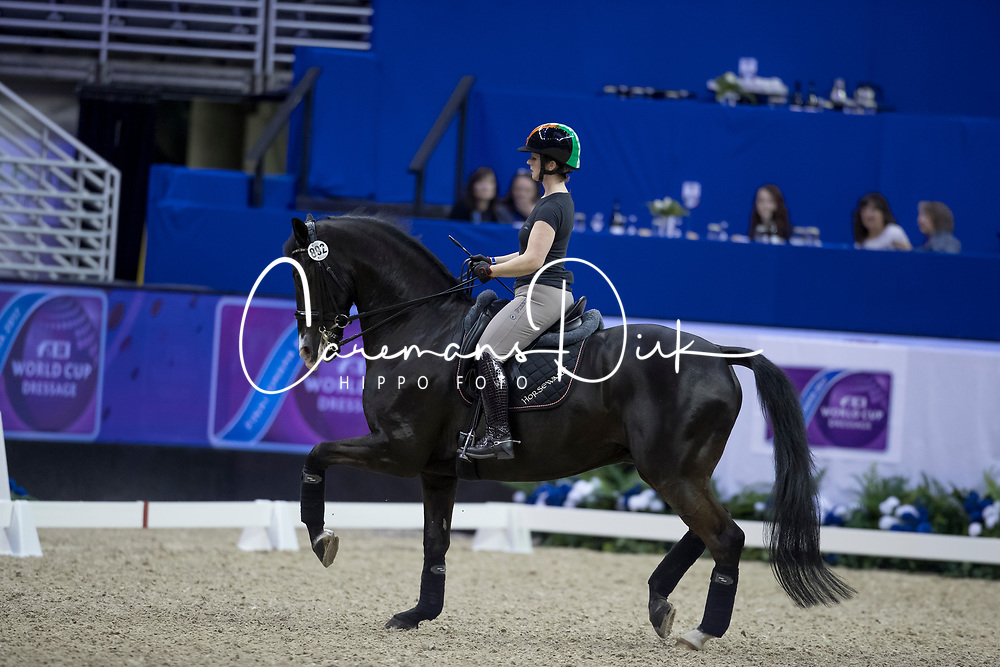 Reynolds Judy, IRL, Vancouver K<br /> Training session<br /> Longines FEI World Cup Jumping Final, Omaha 2017 <br /> © Hippo Foto - Jon Stroud<br /> 29/03/2017