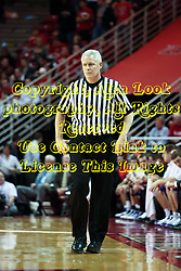 09 January 2010: Referee Tom Eades. The Panthers of Northern Iowa topple the Redbirds of Illinois State 59-44 on Doug Collins Court inside Redbird Arena at Normal Illinois.