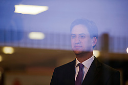 © London News Pictures. 25/09/2013 . Brighton, UK. Labour Party Leader ED MILIBAND giving an interview to television at The Brighton Centre the morning after delivering his Keynote speech at the Labour Party Conference. Photo credit : Ben Cawthra/LNP