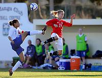 Fotball<br /> 25. Februar 2011 <br /> La Manga , Spania<br /> WU23 Landslags turnering<br /> Norge - England 1 - 1<br /> Fern Whelan (L) , England<br /> Marie Bakke (R) , Norge<br /> Foto: Astrid M. Nordhaug