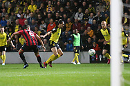 Burton Albion defender Ryan Edwards (4) attacks for Burton during the EFL Cup match between Burton Albion and Bournemouth at the Pirelli Stadium, Burton upon Trent, England on 25 September 2019.