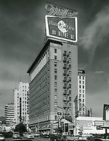 1960 Looking north on Vine St. at the Taft Building on the SE corner of Hollywood Blvd. and Vine St.