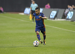 October 22, 2017 - New York, New York, United States - Maximiliano Moralez (10) of NYC FC controls ball during MLS regular game against Columbus Crew SC at Citi Field Game ended in draw 2 - 2  (Credit Image: © Lev Radin/Pacific Press via ZUMA Wire)