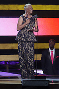 October 13, 2012- Bronx, NY: Recording Artist Dionne Warwick at the Black Girls Rock! Awards presented by BET Networks and sponsored by Chevy held at the Paradise Theater on October 13, 2012 in the Bronx, New York. BLACK GIRLS ROCK! Inc. is 501(c)3 non-profit youth empowerment and mentoring organization founded by DJ Beverly Bond, established to promote the arts for young women of color, as well as to encourage dialogue and analysis of the ways women of color are portrayed in the media. (Terrence Jennings)