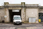 A Geoamey van brings new arrivals into HMP/YOI Portland, a resettlement prison with a capacity for 530 prisoners.Dorset, United Kingdom.