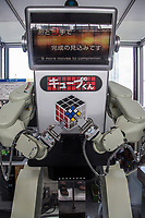 Rubic Cube Robot - Karakuri ningyo are Japanese mechanized puppets that have been popular since the 18th century. The word karakuri means mechanical device designed to tease or trick. Japan's love of robots lies in the history of the Karakuri Ningyo. More modern robots have been developed with more of an edge.  Take, for example, this robot specialized in solving the Rubic Cube.   It is found at Osaka Science Museum