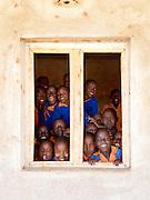 School children of Iloileri School near Amboseli National Park, Rift Valley Province, Kenya