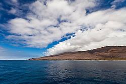 Lāna'i aka Pineapple Island because of its past as an island-wide pineapple plantation of Dole, the sixth-largest island of the Hawaiian Islands, Hawaii, USA, Pacific Ocean