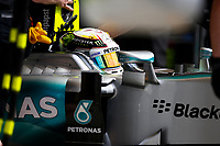 HAMILTON lewis (gbr) mercedes gp mgp w06 ambiance during 2015 Formula 1 FIA world championship, Bahrain Grand Prix, at Sakhir from April 16 to 19th. Photo Florent Gooden / DPPI