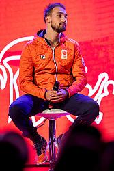 02-01-2018 NED: PloegpresentatieTeamNL, Arnhem<br /> Kjeld Nuis tijdens de teamoverdracht van Olympic en Paralympic TeamNL voor de Olympische Spelen van Pyeongchang