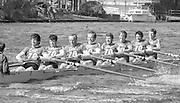 Kingston on Thames, United Kingdom.  Leander Club. M8+  The final Round of the Leyland Daf Sprint series, at Kingston RC on the River Thames, Surrey, England, <br /> <br /> Saturday 04.05.1987<br /> <br /> [Mandatory Credit; Peter Spurrier/Intersport-images] 1987 Leyland Daf Sprints, Kingston. UK