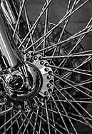 Motorcycle wheel, classic Harley Davidson, Loveland CO