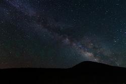 Stars over Ash Mountain Vermejo Park Ranch, New Mexico, USA.