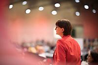 DEU, Deutschland, Germany, Berlin, 06.12.2019: Die neu gewählte SPD-Parteivorsitzende Saskia Esken beim Bundesparteitag der SPD im CityCube.