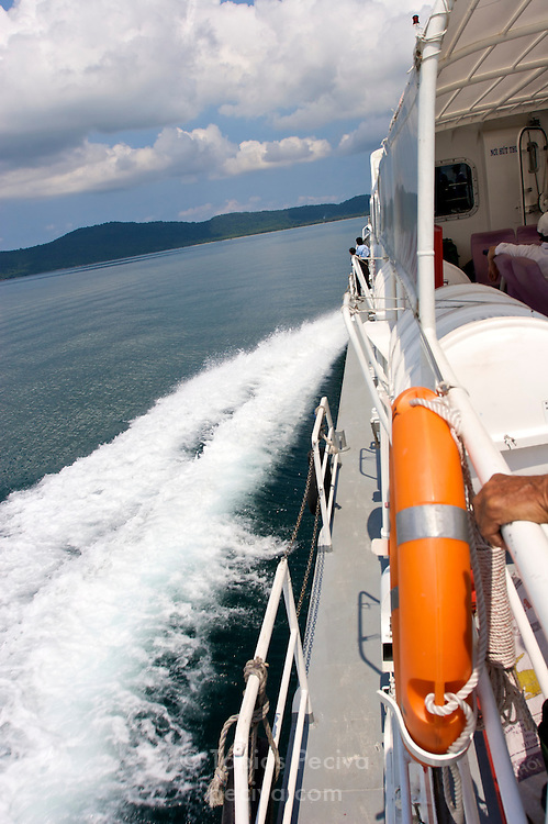 The SuperDong II hydrofoil under way, en route to the island of Phu Quoc in southern Vietnam.