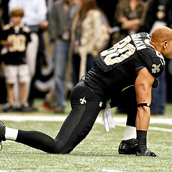 November 25, 2012; New Orleans, LA, USA; New Orleans Saints tight end Jimmy Graham (80) against the San Francisco 49ers prior to a game at the Mercedes-Benz Superdome. The 49ers defeated the Saints 31-21. Mandatory Credit: Derick E. Hingle-US PRESSWIRE