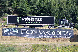 July 21, 2018 - Loudon, NH, U.S. - LOUDON, NH - JULY 21:  Series and race sponsor for the Monster Energy Cup Series Foxwoods Resort Casino 301 race on July, 21, 2018, at New Hampshire Motor Speedway in Loudon, NH. (Photo by Malcolm Hope/Icon Sportswire) (Credit Image: © Malcolm Hope/Icon SMI via ZUMA Press)