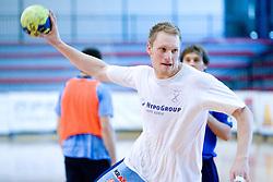 Miha Zvizej at practice of Slovenian Handball Men National Team, on June 4, 2009, in Arena Kodeljevo, Ljubljana, Slovenia. (Photo by Vid Ponikvar / Sportida)
