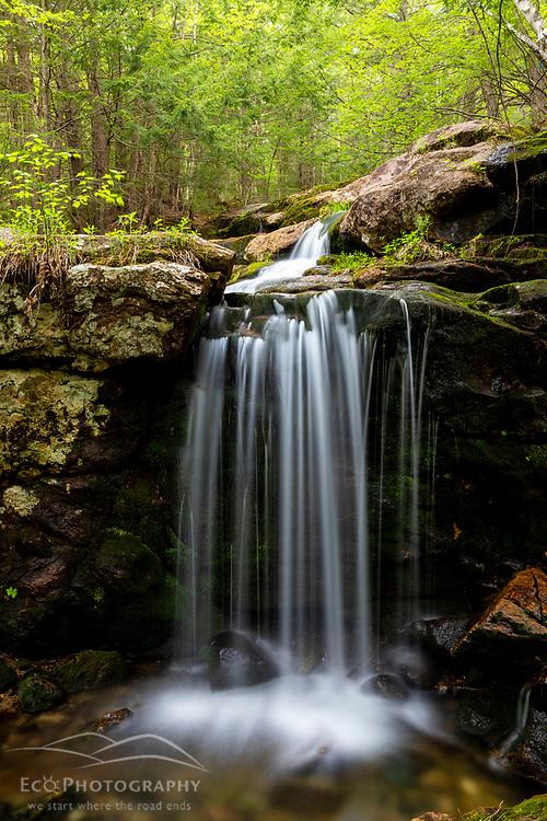 A waterfall on Peabody Brook on Tumbledown Dick Mountain on Gilead, Maine.
