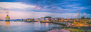 THis is a panorama consist of 7 pictures. When I took this picture Pullmantur Monarck ship was visiting Trondheim.