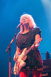 Katie White of the Ting Tings performs during day three of T In The Park Festival 2008 at Balado July 13, 2008 in Kinross, Scotland. Sunday, .©2007 Michael Schofield. All Rights Reserved.