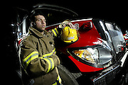 Volunteer firefighter Phillip Roy, 23, is seen at the Limoges fire hall on Wednesday Jan 24, 2007. Phil Roy responded to the 38-car pileup in Feb of 2006 on Hwy. 417..(Ottawa Sun Photo By Sean Kilpatrick)..