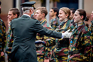 Belgian Royals attend ceremony for the presentation of the blue berets, Royal Military Academy, Brus