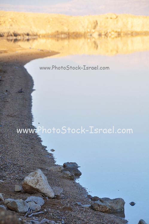Israel, Dead Sea landscape view