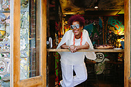 Cuban singer in the East Village where she first lived after moving to New York from Cuba in the 90's.<br /> Cover Story for Air Berlin Inflight magazine about Cuban musicians in New York and their parents, September 2016