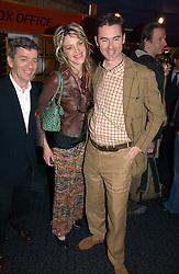 Left to right, ULTAN GUILFOYLE, MARTHA FIENNES and GEORGE TIFFIN at a private screening of 'Sketches of Frank Gehry in association with jewellers Tiffany held at the Curzon Cinema, Mayfair on 10th May 2006 followed by a party at Nobu Mayfair, Berkeley Street.<br /><br />NON EXCLUSIVE - WORLD RIGHTS