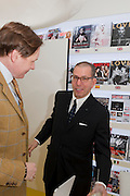 NICK FOULKES; JONATHAN NEWHOUSE, OPENING OF CONDE NAST WORLWIDE NEWS. Vogue House. London. 21 February 2011. -DO NOT ARCHIVE-© Copyright Photograph by Dafydd Jones. 248 Clapham Rd. London SW9 0PZ. Tel 0207 820 0771. www.dafjones.com.