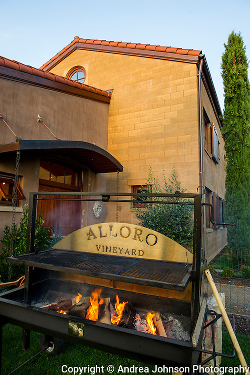 Winemaker dinner prepared by prepared by award winning chef Cathy Whims! of Nostrana restauarant, Portland Oregon at Alloro Winery, Sherwood, Willamette Valley, Oregon