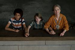 Jaden Michael, Oakes Fegley, and Julianne Moore in WonderStruck