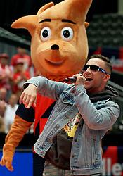 16-09-2019 NED: EC Volleyball 2019 Poland - Czech Republic, Rotterdam<br /> First round group D - Poland win 3-0 / Dominik Włodzimierz Groot, beter bekend onder zijn artiestennaam Mr. Polska, is een Nederlands-Pools rapper.