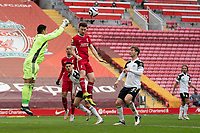 Football - 2020 / 2021 Premier League - Liverpool vs Fulham - Anfield<br /> <br /> Fulham's Alphonse Areola punches the ball clear<br /> <br /> CreditCOLORSPORT/TERRY DONNELLY