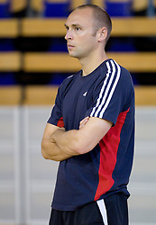 Assistant coach Goran Ostojic at first practice session of KK Union Olimpija in new season 2010/2011 on August 23, 2010, in Arena Tivoli, Ljubljana, Slovenia.  (Photo by Vid Ponikvar / Sportida)