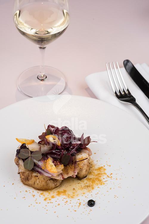 Monkfish at Serge et Le Phoque as part of restaurant review.<br /> Picture by Daniel Hambury/Stella Pictures Ltd 07813022858<br /> 02/10/2017