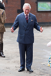 © Licensed to London News Pictures. 24/10/2017. London, UK. The Prince of Wales visits the Household Cavalry Mounted Regiment at Hyde Park Barracks. Photo credit: Ray Tang/LNP