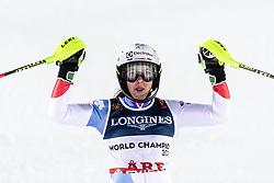 February 8, 2019 - Re, SWEDEN - 190208 Wendy Holdener of Switzerland celebrates after  women's alpine combination during the FIS Alpine World Ski Championships on February 8, 2019 in re..Photo: Joel Marklund / BILDBYRN / kod JM / 87851 (Credit Image: © Joel Marklund/Bildbyran via ZUMA Press)