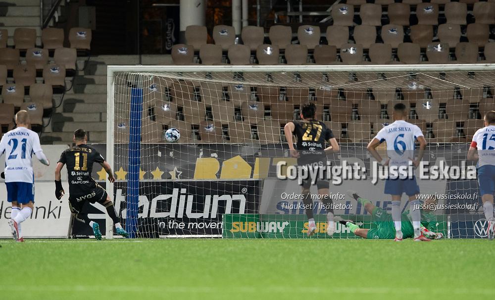 Denys Oliinyk rp 2-2.  HJK - SJK. Veikkausliiga. Helsinki 3.10.2021. Photo: Jussi Eskola