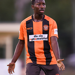 BRISBANE, AUSTRALIA - JANUARY 8: Abraham Yango of Easts in action during the Kappa Silver Boot Group A match between Brisbane Strikers and Eastern Suburbs on January 8, 2017 in Brisbane, Australia. (Photo by Patrick Kearney)