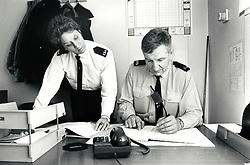 Radford police station, Nottingham UK 1989