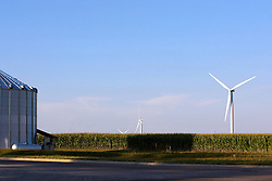 10 July 2010:East Central McLean County. Twin Groves wind farm owned and operated by Horizon Energy is surrounded by corn in the farmers field