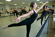 (MODEL RELEASED IMAGE). Delphine Le Moine, a dance student, in her ballet class at the Centre International de Danse Jazz Rick Odums. (Supporting image from the project Hungry Planet: What the World Eats.)