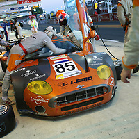 #85 Spyker C8 Spyder GT2R in the pits - Spyker Squadron BV (Drivers - Andrea Chiesa, Alex Caffi and Andrea Belicchi) GT2, Le Mans 24Hr 2007