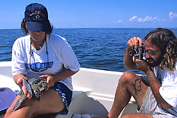 James Buehler Photographing Green Turtle