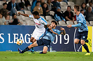 SYDNEY, AUSTRALIA - MAY 21: Kawasaki Frontale player Maguinho (26) kicks the ball at AFC Champions League Soccer between Sydney FC and Kawasaki Frontale on May 21, 2019 at Netstrata Jubilee Stadium, NSW. (Photo by Speed Media/Icon Sportswire)