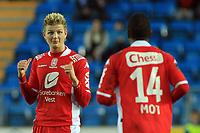 Fotball <br /> Tippeligaen<br /> 05.04.2010 <br /> Molde v Brann 3-2<br /> Aker stadion<br /> Erik huseklepp - brann<br /> Tijan Jaiteh - brann<br /> Foto:Richard brevik Digitalsport